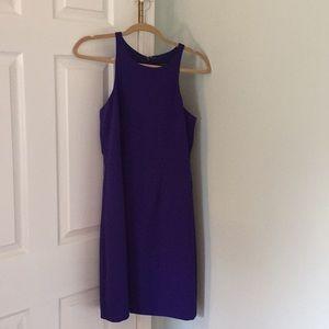 Jcrew blue purple dress 6